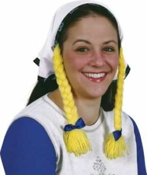 [Headscarf w/Braids Party Accessory (1 count) (1/Pkg)] (Oktoberfest Costumes Hat)