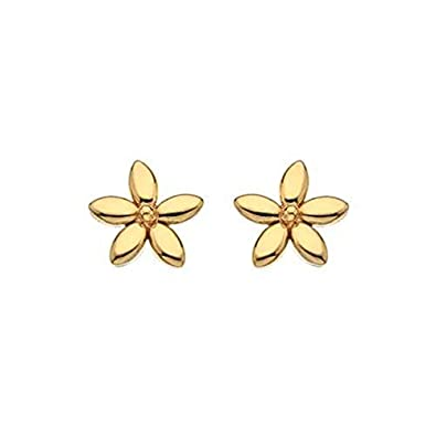 0f13ef4f6 9ct Gold Yellow Gold Flower stud earrings: Amazon.co.uk: Jewellery