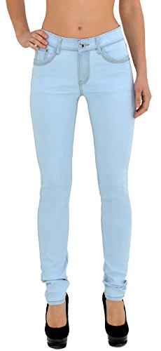 by-tex Jean femme pantalon en jean femme Jeans taille haute noir et bleu - grande taille 34, 36 .. 54, 56 J188