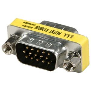 InstallerParts DB15HD VGA/SVGA Male to Male Mini Gender Changer Male to Male
