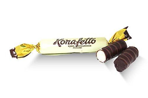 - Roshen, Konafetto Dark Chocolate Cream/Condensed Milk Wafer Roll (2 Lbs)