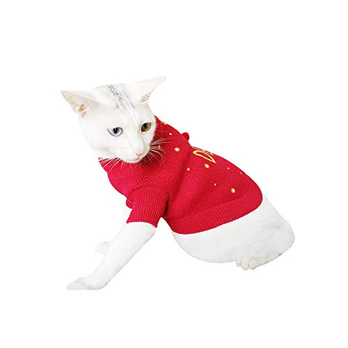 Geetobby Christmas Pet Sweater Dog Cat Winter Warm Deer Sweater Coat Costume