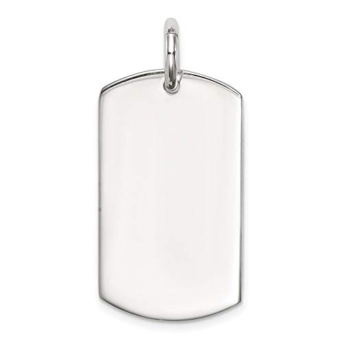 Marine Silver Dog Tag - 925 Sterling Silver Dog Tag Pendant Charm Necklace Engravable Disc Fine Jewelry Gifts For Women For Her