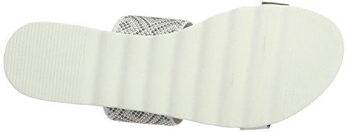 Marco Tozzi Premio 27116, Sandalias con Cuña para Mujer Blanco (White Comb 197)