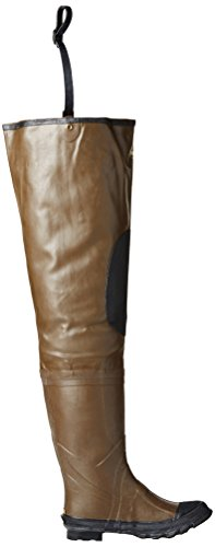 Pro Line Mens Rubber Hip Waders,Brown,10 M