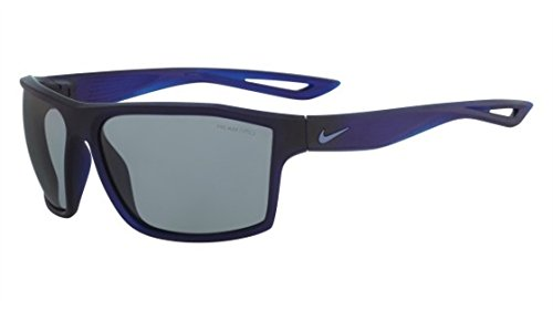 Nike Golf Legend Sunglasses, Matte Crystal Obsidian/Ocean Fog Frame, Grey with Silver Flash Lens (Flash Lenses Grey Silver)