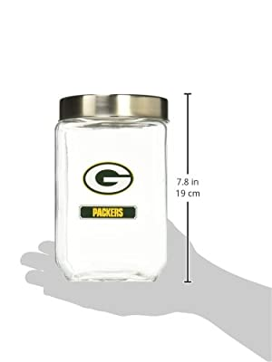 NFL Green Bay Packers Glass Canister