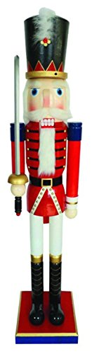 Giant 5' Life Size Red Royal Guard Decorative Wood Christmas Nutcracker Display