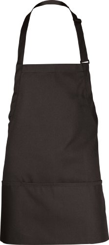 Length Bib Apron (Chef Works Men's Three Pocket Apron, Black, 24-Inch Length by 28-Inch Width)