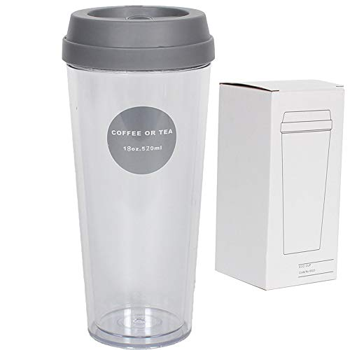 Party Mugs Travel Tumbler Beverages and Tea Mugs Double Wall Insulated Coffee Mugs with Lid,Temperature Safe 18 oz. Camping Mugs for Wine,Cocktails,Soft Drinks,Milk,Tough and Shatterproof - BPA Free -  LeaderPool, Mugs232