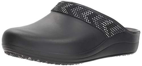 Crocs Women's Sloane Diamante Clog, Black/Multi, 6 M US from Crocs