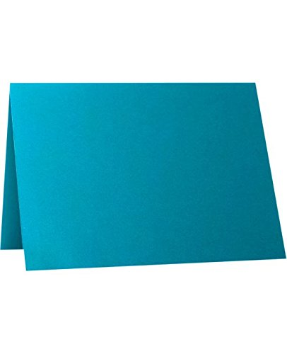 A1 Folded Notecards (3 1/2 x 4 7/8) - Trendy Teal (1000 Qty.) by Envelopes.com