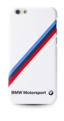 BMW Motorsport Endurance Hard Case Diagonal Tricolor Stripe Glossy iPhone 6/6s - White
