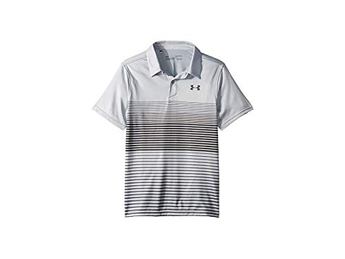 Under Armour Boys' Jordan Spieth 2nd Major Saturday Polo, Mod Gray//Black, Youth Small by Under Armour