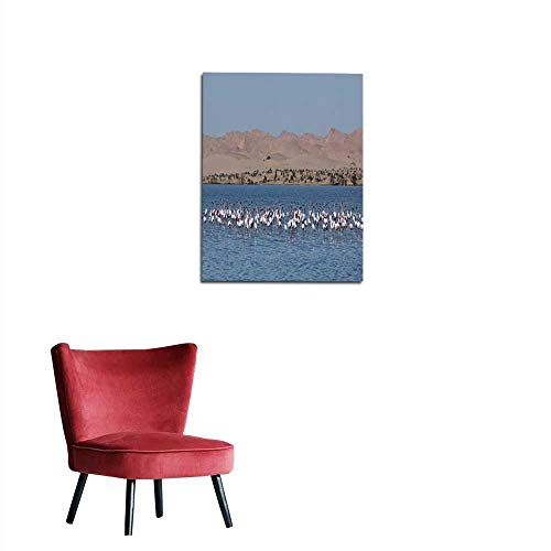 longbuyer Wall Sticker Decals Flamingos at Sandwich Harbour Mural 20