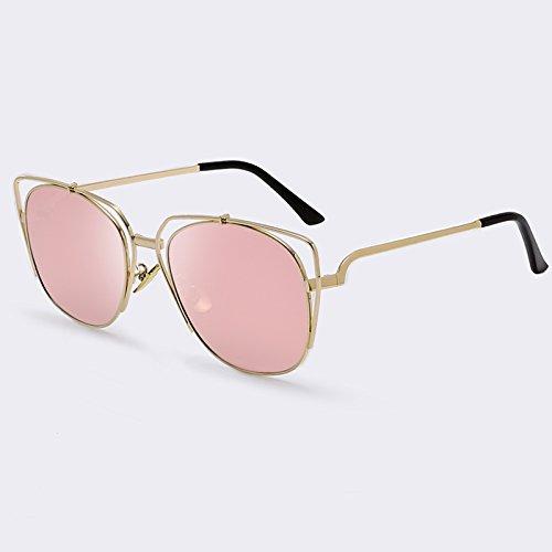 Mujeres de revestimiento de gato de Metal sol Verano de Gato gafas UV400 Pink de de Ojos lujo gafas C05 de Gafas el estilo de rosa C05 para Ojo espejo TIANLIANG04 WcYwxnUq0q