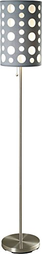 SH Lighting SH-9300FGY/WH, Retro Dual Shade Floor Lamp, 62