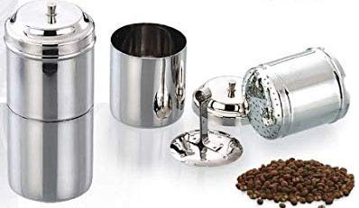 Stainless Steel South Indian Coffee Filter Drip Coffee Maker 3 4 Cups 250 ml
