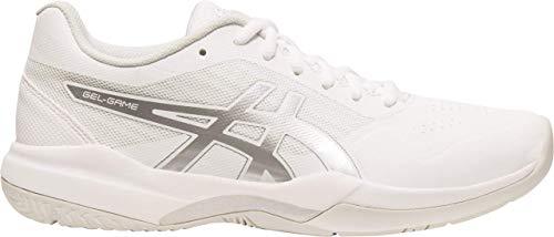 Asics Athletic Shoes - ASICS Gel-Game 7 Men's Tennis Shoe, White/Silver, 12 D US