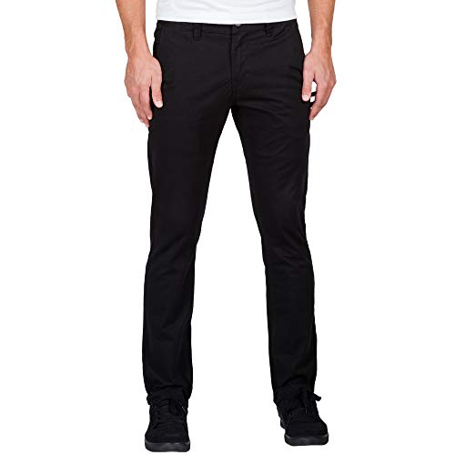 Volcom Men's Frickin Slim Chino Pant, Black, 28 - Volcom Tights