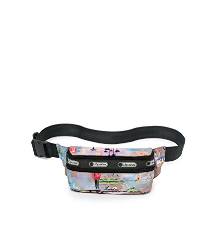 LeSportsac Classic Double Zip Belt Bag, Exclusive City Life Print
