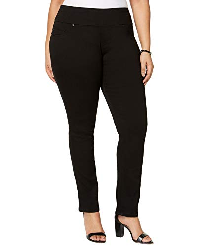 Lee Platinum Label Womens Plus Slimming Fit High Rise Jeggings Black 14W ()
