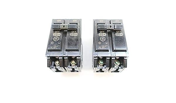 NEW GE THQL2120 20A 120//240V 2P Plug-In Circuit Breaker