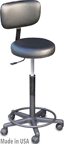 910-Prime Salon Spa Hair Cutting Stool w/Adjustable Back Support Made in USA by Dina Meri