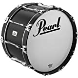 Pearl Championship ArticuLite Series Indoor Marching Bass Drum (White 16X12 Inches)