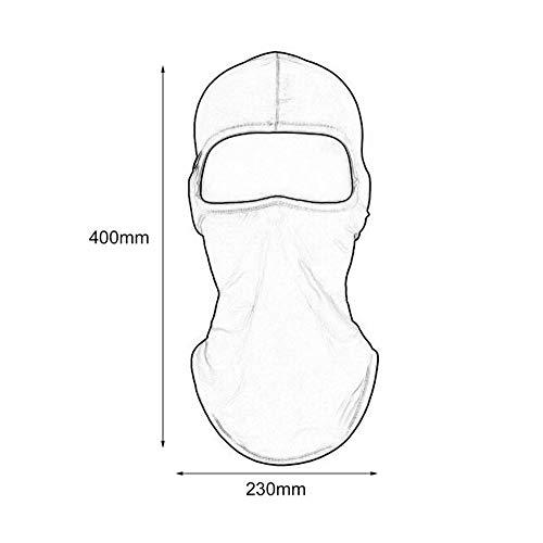 Nero Pudincoco Tinta Unita a Prova di Polvere Uomo Donna tattico Moto Ciclismo Caccia Esterna Sci Maschera Viso Casco Maschera Completa