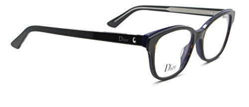 Dior Montaigne 3 Women Cat Eye RX - able Glasses (Blue Havana G9Z, - Dior Eye Cat Frames
