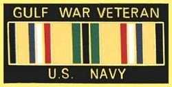 United States Navy Gulf War Veteran 1 1/8