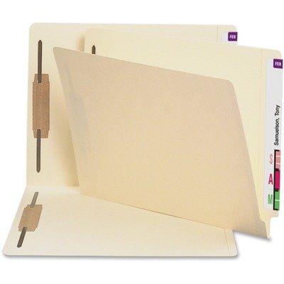 Smead Heavyweight Folders, Two Fasteners, End Tab, Letter, 11 Point Manila, 250/Box