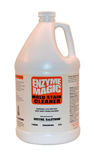 Enzyme Concentrate (ENZYME MAGIC Mold Stain Cleaner 1 Gal Concentrate (Makes 64-gal) Enzyme Based Mold/Mildew Stain Remover, Best to Clean Grout, Tile, Wall, Bathroom. Non-Toxic Indoor/Outdoor Cleaner (EPA Safer Choice))