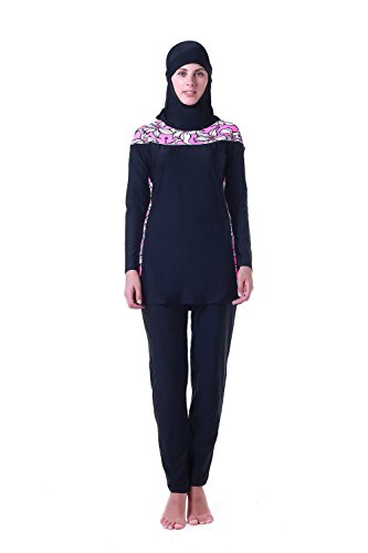 Muslim Women Swimwear Full Coverage Islamic Modest Swimsuit 3 Pieces Full Body with Hijab Sun Protection (XL, ZH14006-2) by MZ Garment