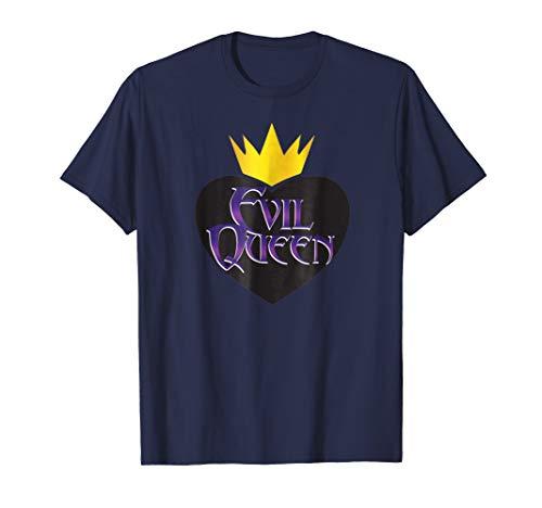 Evil Queen T-shirt Crown Black Heart Halloween Costume Tee]()