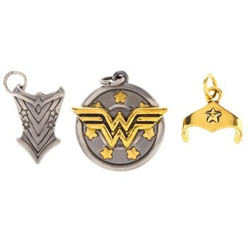 - Wonder Woman Charm Trio Favor Decoration Party Supplies Gift