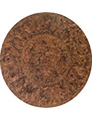 Fitted Vinyl Table Cloth Round With Elastic Edge - Fits 44 Inch To 48 Inch Tables (Brown Maple)