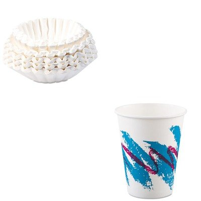 KITBUN1M5002SLO378JZJ - Value Kit - Solo Jazz Paper Hot Cups (SLO378JZJ) and Bunn Coffee Commercial Coffee Filters (BUN1M5002)