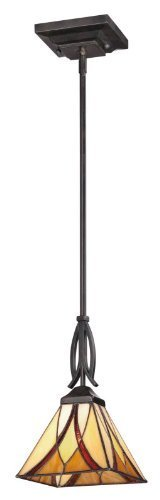 Quoizel TFAS1507VA Asheville with Valiant Bronze Finish Rod Hung Mini Pendant by Quoizel by Quoizel