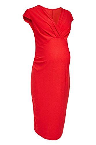 mit Maternity next Drapierung Kleid Damen Rot w1z5gtqT