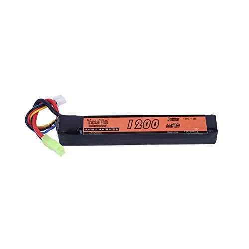 Youme 3S Lipo Batería 1200mAh 11.1v LiPo Stick Batería 25C con Mini Conector Tamiya para Airsoft Tamiya - Tipo AK