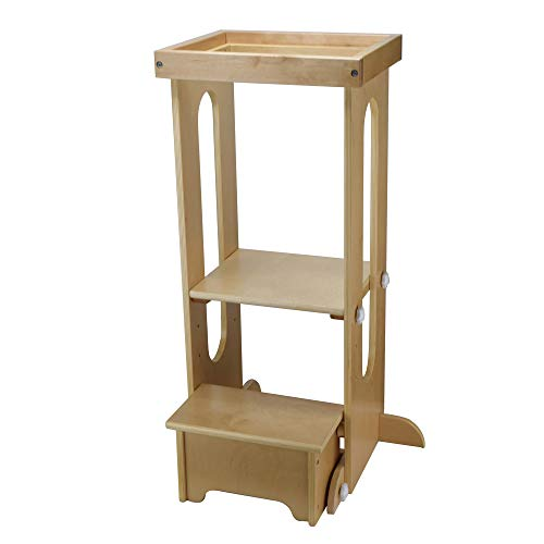 Little Partners Explore n Store Learning Tower Kids Adjustable Height Kitchen Step Stool for Toddlers or Any Little Helper - -