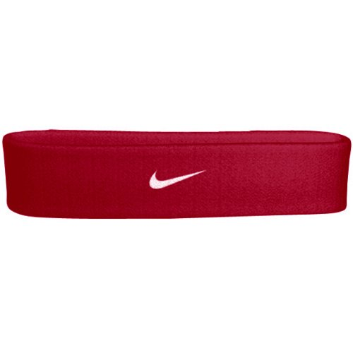 Nike Swoosh Headband (Red, One Size) by Nike
