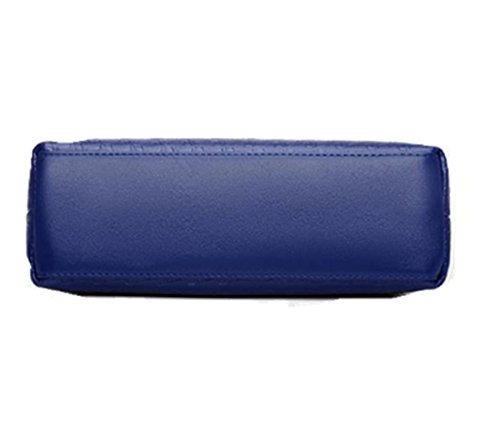 OL Handbag Royal Purse Ladies Blue Crocodile Crossbody Bag for Grain Shoulder Patent Leather Womens ZWTnwzqIY1