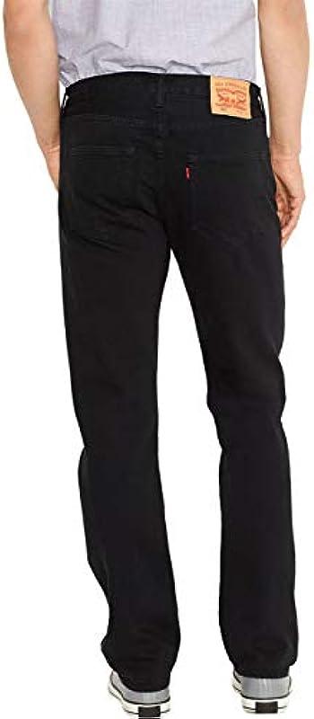 Levi LED's dżinsy męskie 501 oryginalne Straight Fit, W40/L34, czarne (czarne): Odzież
