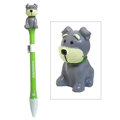 Ky & Co YesKela Schnauzer Figurine Topper Pen Blue Ink