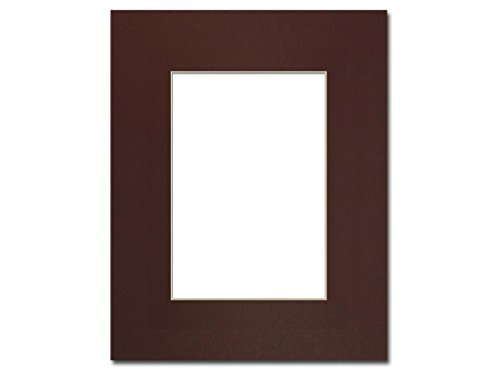 Maroon 5 Photo - PA Framing, Single Mat, 8 x 10 inches Frame for 5 x 7 inches Photo Art Size - Cream Core/Maroon