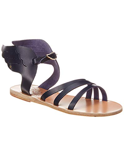 - Ancient Greek Sandals Ikaria Wing Leather Sandal, 39, Blue