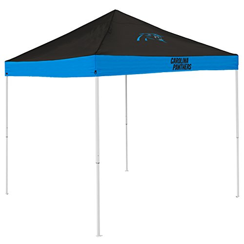 Logo Brands NFL Carolina Panthers Economy Tent Economy Tent, Charcoal, One -
